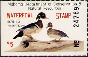 Alabama – Waterfowl Stamp (1979-2012)