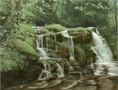 Buttermilk Falls- Signed By The Artist – PaperLithograph – Limited Edition – 500S/N – 19x26