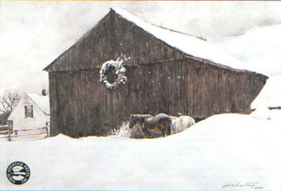 Christmas Snow- Signed By The Artist – PaperLithograph  – Limited Edition  – 950S/N  –  13 1/2x19 1/2