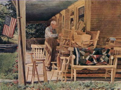 Country Furniture Maker- Signed By The Artist – PaperLithograph  – Limited Edition  – 950S/N  –  19x25 5/8
