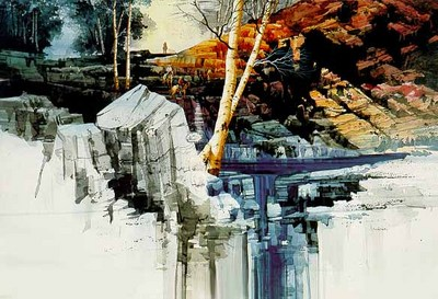 Aspen Winter- Signed By The Artist								 – Paper Lithograph – Limited Edition – 1250 S/N – 21 3/4 x 29