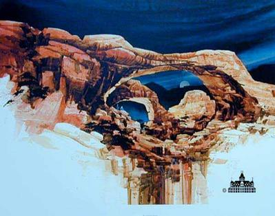 Inspiration Arches- Signed By The Artist								 – Paper Lithograph – Limited Edition – 950 S/N – 21 1/2 x 28 1/2