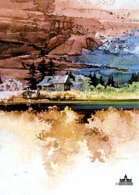 Secluded Valley- Signed By The Artist								 – Paper Lithograph – Limited Edition – 2500 S/N – 12 x 10