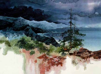 Tranquil Cove- Signed By The Artist								 – Paper Lithograph – Limited Edition – 1000 S/N – 21 x 28 1/2 –