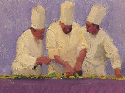The Chef Suite – 3 Piece Suite- Signed By The Artist – CanvasGiclee – Limited Edition – 250S/N – 9x12