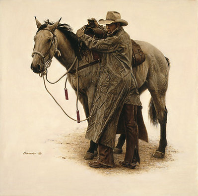 Bittin' Up, Rimrock Ranch- Signed By The Artist								 – Paper Lithograph – Limited Edition – 1250 S/N – 19 x 19 –