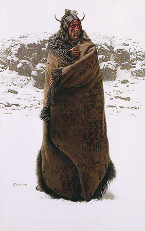 Blackfeet War Robe- Signed By The Artist – PaperLithograph  – Limited Edition  – 1000S/N  –  21 1/4x13 1/4