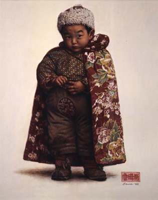 Boy From Chengdu- Signed By The Artist								 – Paper Lithograph – Limited Edition – 888 S/N – 19 x 15