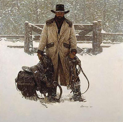 Buck Norris – Crossed Sabres Ranch- Signed By The Artist – CanvasGiclee  – Limited Edition  – 150S/N  –  20x20