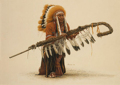 Ceremonial Lance- Signed By The Artist								 – Paper Lithograph – Limited Edition – 1250 S/N – 19 1/2 x 27 3/4