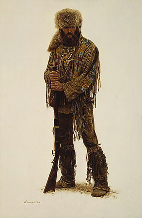 Dan – Mountain Man- Signed By The Artist								 – Paper Lithograph – Limited Edition – 1250 S/N – 19 x 12 3/8