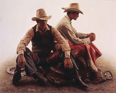 The Davilla Brothers – Bronc Riders- Signed By The Artist – PaperLithograph – Limited Edition – A/P – 15 5/8x19 1/2