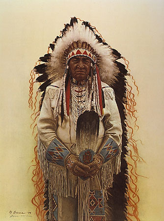 Shoshone Chief- Signed By The Artist – PaperLithograph – Limited Edition – A/P – 23x18
