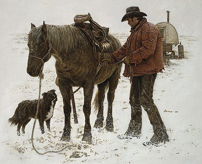 Young Sheepherder- Signed By The Artist – PaperLithograph – Limited Edition – 1500S/N – 15 1/2x19 3/8