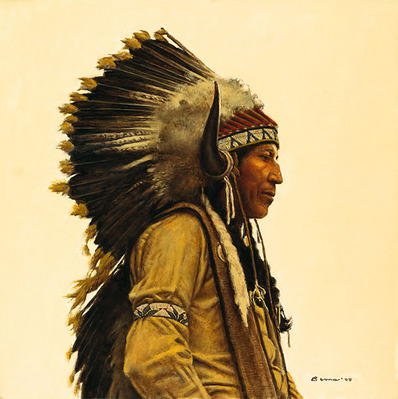 Black Elk's Great Grandson- Signed By The Artist – CanvasGiclee  – Limited Edition  – 100S/N  –  20x20