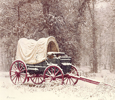 Chuck Wagon In The Snow- Signed By The Artist								 – Canvas Giclee – Limited Edition – 95 S/N – 13 x 15
