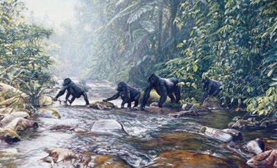 Fleeing Rwanda- Signed By The Artist – CanvasGiclee – Limited Edition – 175S/N – 24x36