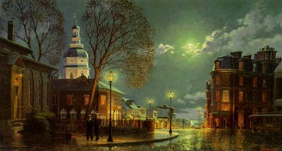 Annapolis Evening- Signed By The Artist								 – Paper Lithograph – Limited Edition – 950 S/N – 12 x 22 –