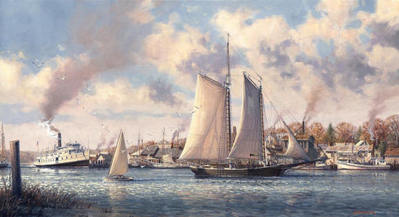 Chesapeake Bound (Remarqued)- Signed By The Artist								 – Paper Lithograph – Limited Edition – 75 A/P – 14 x 26