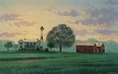Chesapeake Country (Remarqued)- Signed By The Artist								 – Paper Lithograph – Limited Edition – 75 A/P – 9 x 14