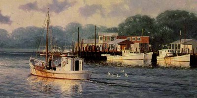 Days End On Davis Creek- Signed By The Artist – PaperLithograph  – Limited Edition  – 950S/N  –  12x24  –