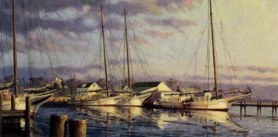 Deal Island Morning (Remarqued)- Signed By The Artist								 – Paper Lithograph – Limited Edition – A/P – 7 x 14 1/8