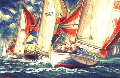 Downwind Run (Enhanced)- Signed By The Artist – CanvasGiclee – Limited Edition – S/N – 24x36