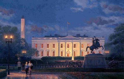 Evening At The White House- Signed By The Artist – PaperLithograph – Limited Edition – 999S/N – 17 3/4x26 3/4