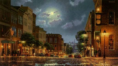 Evening In Shockhoe Slip- Signed By The Artist – PaperLithograph – Limited Edition – 950S/N – 12x22 –