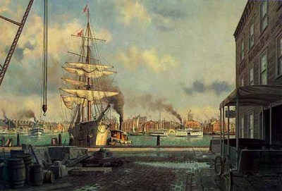 Morning Arrival At Baltimore- Signed By The Artist								 – Paper Lithograph – Limited Edition – 950 S/N – 18 x 29
