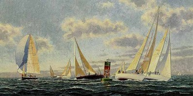 Rounding The Windward Mark (Remarqued)- Signed By The Artist								 – Paper Lithograph – Limited Edition – 75 A/P – 13 x 26