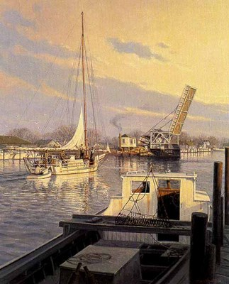 Tilghman Island Sunset (Remarqued)- Signed By The Artist								 – Paper Lithograph – Limited Edition – 75 A/P – 17 x 13 1/2 –