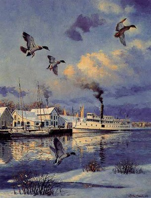 Winter On The Eastern Shore (Remarqued)- Signed By The Artist								 – Paper Lithograph – Limited Edition – 75 A/P – 13 1/4 x 10 1/2