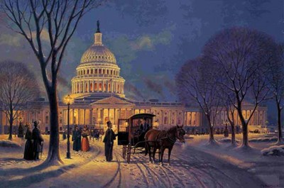 A Winter's Evening On The Hill- Signed By The Artist								 – Paper Lithograph – Limited Edition – 999 S/N – 17 3/4 x 26 3/4