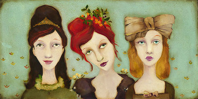 The Bridesmaids- Signed By The Artist – CanvasGiclee – Limited Edition – 100S/N – 12x24 –