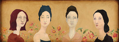 Four Spanish Sisters- Signed By The Artist – CanvasGiclee – Limited Edition – 100S/N – 10x27 –