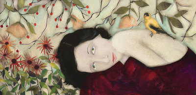 In Her Garden- Signed By The Artist – CanvasGiclee – Limited Edition – 100S/N – 12x24 –