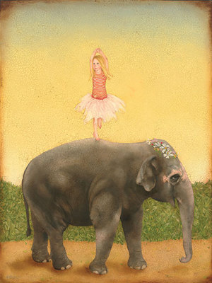 Pirouettes & Pachyderms- Signed By The Artist								 – Canvas Giclee – Limited Edition – 100 S/N – 20 x 15