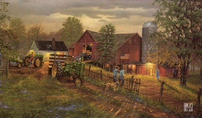America's Heartland- Signed By The Artist								 – Canvas Lithograph – Limited Edition – S/N – 16 3/4 x 28