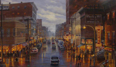A Capitol Night In Wheeling- Signed By The Artist – CanvasGiclee – Limited Edition – 50S/N – 26x44