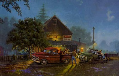 Chevy Lends A Hand- Signed By The Artist – PaperLithograph – Limited Edition – 1250S/N – 17x27