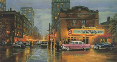 Evening At The Paramount- Signed By The Artist								 – Paper Lithograph – Limited Edition – 125 A/P – 15 x 29