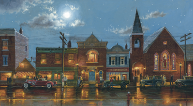 Evening Service- Signed By The Artist – CanvasGiclee – Limited Edition – 250S/N – 20x37
