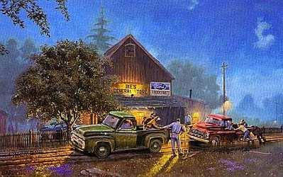 Ford Lends A Hand- Signed By The Artist								 – Paper Lithograph – Limited Edition – 1250 S/N – 17 x 27