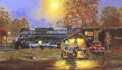 Passing Time- Signed By The Artist – CanvasLithograph – Limited Edition – A/P – 16 1/4x28