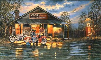 Small Town Service- Signed By The Artist								 – Canvas Lithograph – Limited Edition – A/P – 16 1/4 x 27