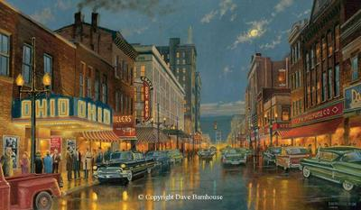 A Night On The Town – Steubenville, Ohio- Signed By The Artist – CanvasGiclee – Limited Edition – 25S/N – 26x44