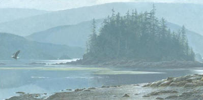 Along The Coast – Bald Eagle- Signed By The Artist								 – Canvas Giclee – Limited Edition – 225 S/N – 12 x 24