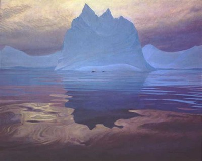 Antarctic Evening – Humpback Whales- Signed By The Artist – PaperLithograph – Limited Edition – 950S/N – 23x28 3/4