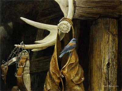 Chaps – Western Bluebird- Signed By The Artist – PaperLithograph – Limited Edition – 950S/N – 14x19 5/8